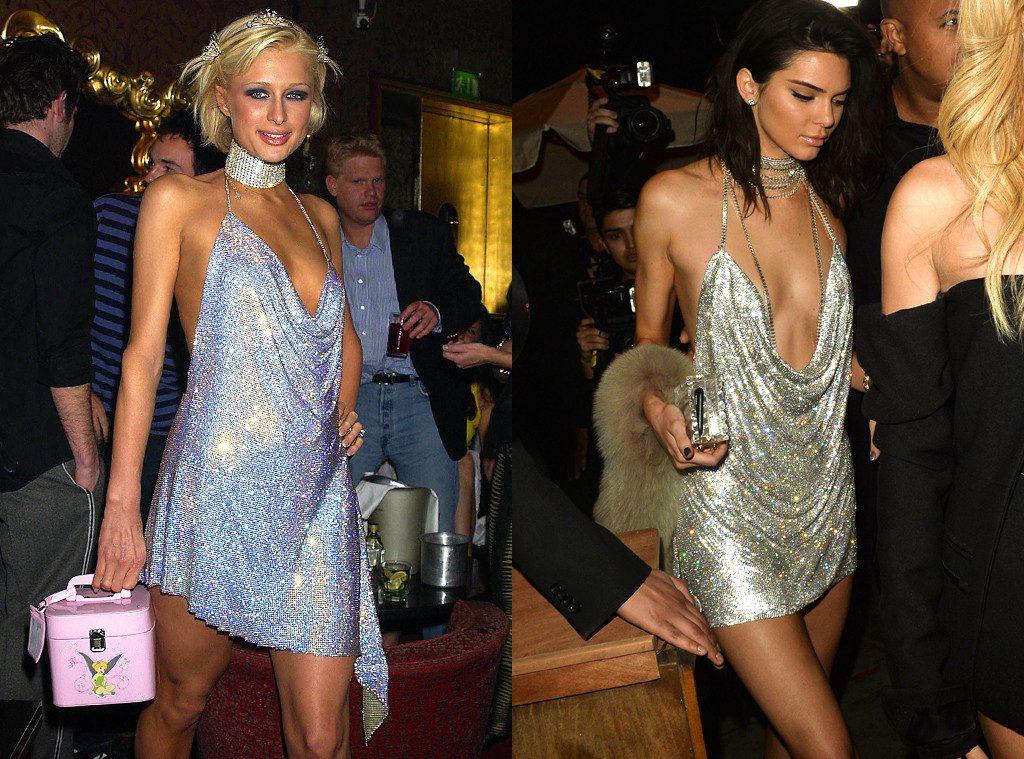 paris hilton and kendall jenner birthday dress