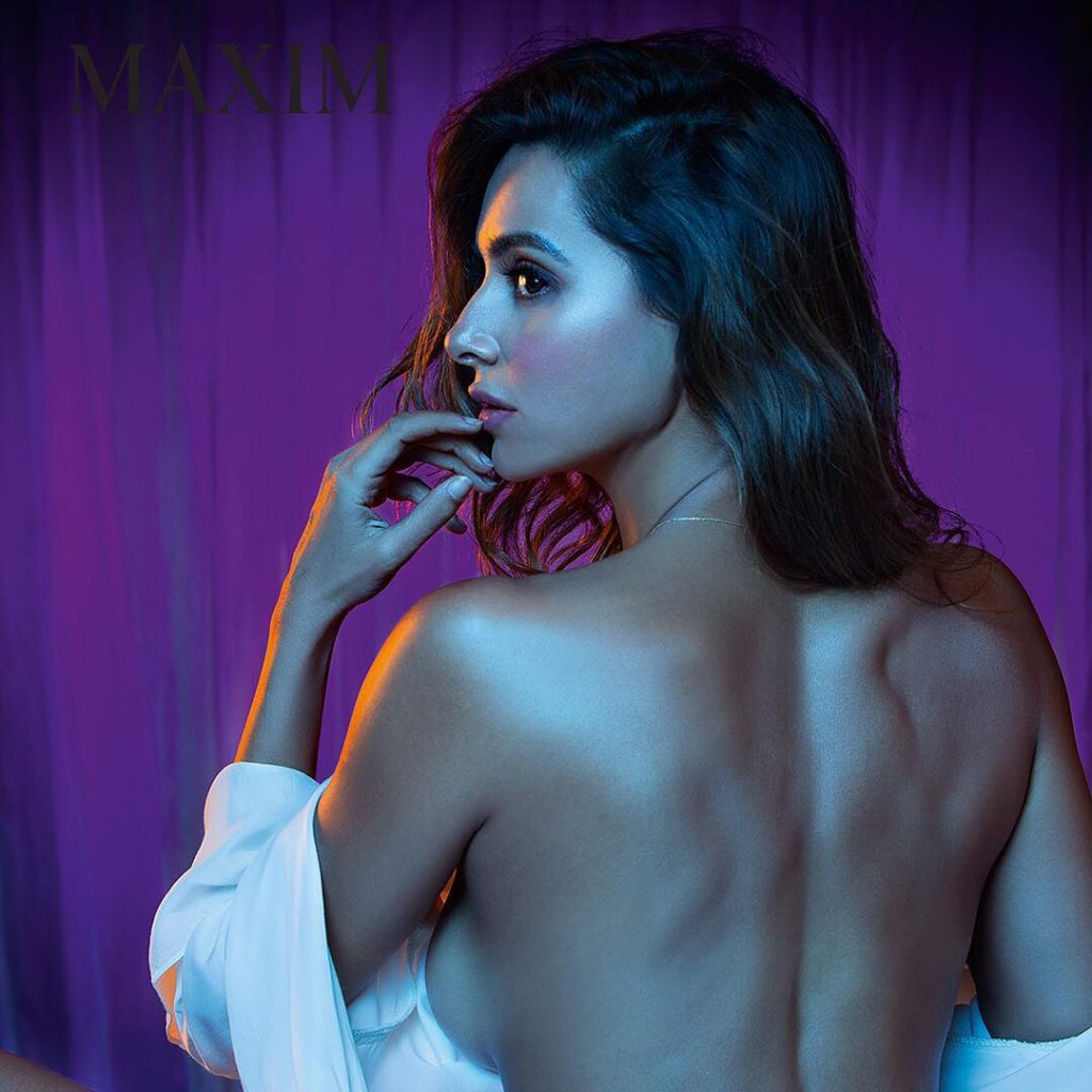 shibani dandekar sexy ltits sideboob backless for maxim photoshoot