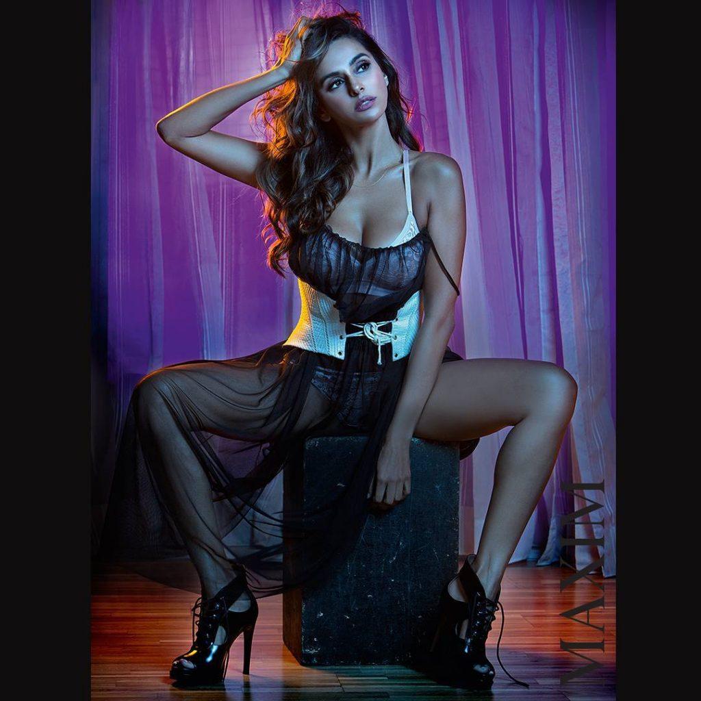 shibani dandekar bold seductive bikini lingerie maxim photoshoot